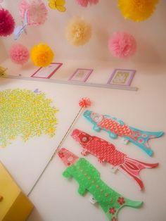 こどものにわの画像|エキサイトブログ (blog) Boys Day, Carp, Japanese Culture, Streamers, My Works, Easter, Kawaii, Events, Spring