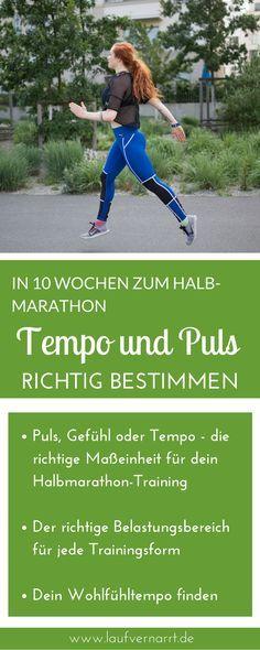 In 10 Wochen zum Halbmarathon - Puls, Tempo & Gefühl. Puls, Gefühl oder Tempo - die richtige Maßeinheit für dein Halbmarathon-Training. Finde die angemessene Belastung für deine Trainingsläufe.