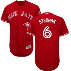 65a904b2e Blue Jays  6 Marcus Stroman Red Flexbase Authentic Collection Canada Day  Stitched MLB Jersey