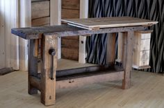 reference for Woodworking - woodbowls: gerpied: Old woodworking bench...