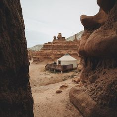 Easily imagining life on Mars while staying in Goblin Valley. Photo by @kellycalvillo #stayandwander