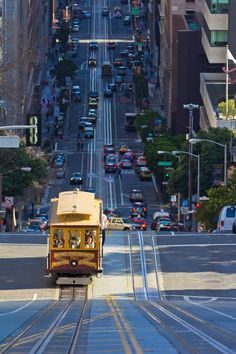 Cable car. Don't call it a trolley.