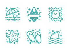 Beach Icons designed by Crystal Gordon. Connect with them on Dribbble; Beach Icon, Holiday Icon, Icon Design, Backdrops, Sticker, Icons, Crystal, Draw, Summer