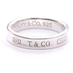 Tiffany and Co 1837 Sterling Silver 925 Ring Metal: 925 sterling silver size: 5 and 8 Good - Pre-owned Condition We offer a risk free 30 - day return policy if you are not completely satisfied, you ge