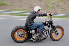 shovelhead hardtail custom w/ orange rims
