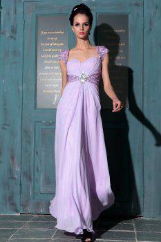 A-ligne de l'épaule pourpre de longues robes de quinceanera nouvelle mode