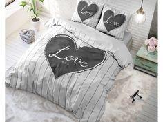 Povlečení pro mladé se srdíčkem Bed Cover Design, Bed Covers, Comforters, Bed Pillows, Pillow Cases, Nova, Blanket, Bedding, House