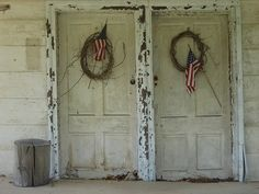 Patriotic old doors