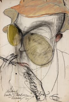 King of Gonzo: Portraits of Hunter S. Thompson by Ralph Steadman | Dangerous Minds