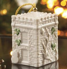 Belleek Annual Ornament Castle Caldwell Gate House I have this one. Christmas Decorations, Christmas Tree, Christmas Ornaments, Holiday Decor, Belleek China, Belleek Pottery, Gate House, My Collection, Home Decor Items