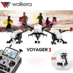 Walkera Quadcopter Voyager 3 with DEVO F12E 4K Camera RC Drone / GPS / Ground Station - White - Free Shipping - DealExtreme