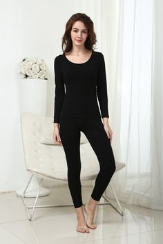 ae06f7915 25 Best Women's Thermal Underwear Set images | Long johns, Lingerie ...