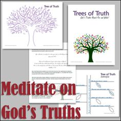 A packet to help individuals focus on God's truths and how those truths effect their lives.