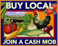 """Cash mobs play off the """"flash mob"""" idea. But instead of performing a song and dance routine, a group of folks get together and flood a local, independent business, each ready to spend about $20."""