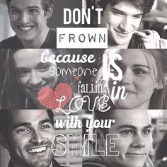 Teen Wolf ~ Issac, Scott, Allison, Lydia, Derek and Stiles - Don't frown because someone is falling in love with you smile