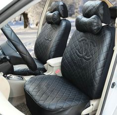 Buy Wholesale Luxury Chanel Universal Automobile Leather Car Seat Cover Sets - Black from Chinese Wholesaler - hibay. Car Interior Accessories, Car Accessories For Girls, Truck Accessories, Scion Frs, Subaru, Automotive Carpet, Leather Car Seat Covers, Girly Car, Ayrton Senna