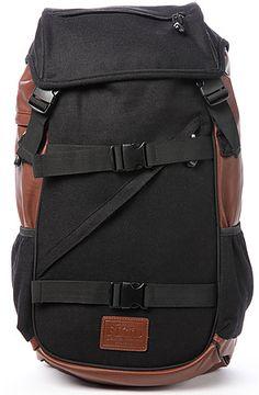 Flud Backpack Tech in Black Melton & Brown - Karmaloop.com