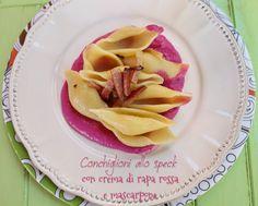 settembre #Vogliadi #pasta – Conchiglioni alla rapa rossa e mascarpone/ Beetroot and mascarpone pasta