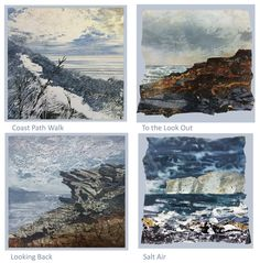 South West Coast Path, Artist Card, Square Card, Art Cards, Beautiful Paintings, Cornwall, Printmaking, Paths, Original Paintings