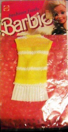 Barbie Fashion Finds: Yellow White Dress #Unbranded