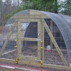 Here S A Simple Chicken Coop With Metal Roof Also Notice