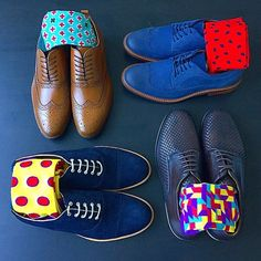 Best men's dress socks ever! Oh and those blue suede #wingtips!!!