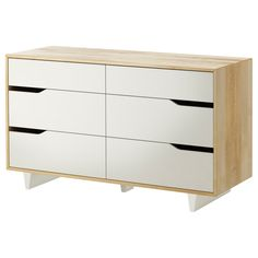 $249.00 MANDAL 6-drawer dresser - IKEA an alternative to http://www.diapers.com/p/oeuf-classic-four-drawer-dresser-birch-72226