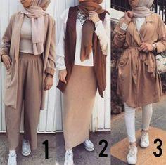 Mixing and matching hijabi outfits – Just Trendy Girls Street Hijab Fashion, Muslim Fashion, Modest Fashion, Fashion Outfits, Modele Hijab, Casual Hijab Outfit, Hijab Chic, Outfit Look, Modest Dresses