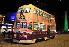 Blackpool Balloon tram 713 at Talbot Square. 2011 by Ian 10B, via Flickr