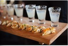 Classy Tacos and Margaritas (mini dessert shooters thanksgiving)