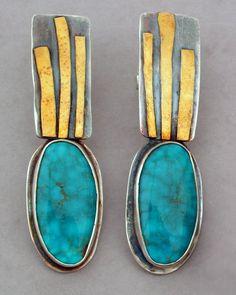 Earrings we love!  www.silvertownart.com  Turquoise Earrings