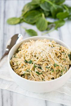 #Recipe / Parmesan and Spinach Orzo - Cooking Classy