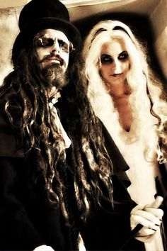 Rob Zombie Sheri Moon Zombie for Halloween Beard Halloween Costumes, Hallowen Costume, Costume Ideas, Halloween Ideas, Scary Couples Costumes, Zombie Couple Costume, Couple Costumes, Happy Halloween, Carnival