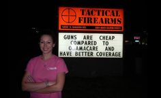 Spunky Katy, Texas, Gun Store Under Political Attack Fights Back With Hilarious Signs ~ these guys with their signs crack me up!