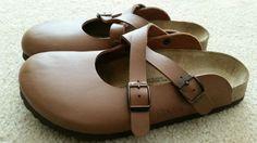 Birkenstock Birki's Womens 38/7 Dorian Brown Birko Flor Mary Jane X Strap Clogs - http://shoes.goshoppins.com/womens-loafers-oxfords/birkenstock-birkis-womens-387-dorian-brown-birko-flor-mary-jane-x-strap-clogs/