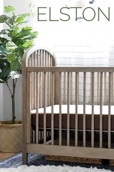 Modernly Boho and Classically Chic... the Elston 3-in-1 Crib is available today at Target.com