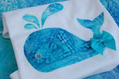Baby Whale Onesie or Toddler TShirt with button eye by ShopMelissa, $17.00