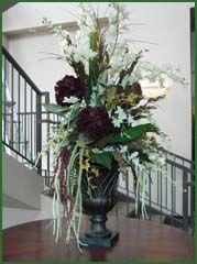 mediterranean style floral arrangements | ... Floral Arrangements, Silk focal floral, large silk flower arrangement
