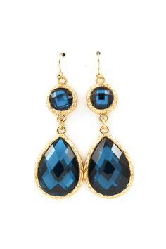 Isabelle Teardrop Earrings in Sapphire