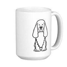 Sussex Spaniel Dog Cartoon Mugs