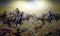 Custer's Last Stand by William Robinson Leigh Giclee Canvas Print Repro