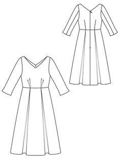 1713 best dress patterns images in 2019 burda patterns dress 60s Fashion calf length dress pattern flat line drawing sewingavenue burda patterns