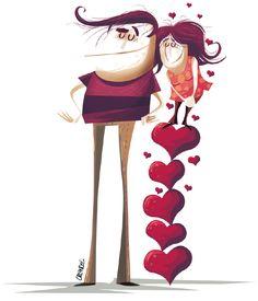 O amor nos ajuda a crescer... ( Ilustração: Orlandeli )