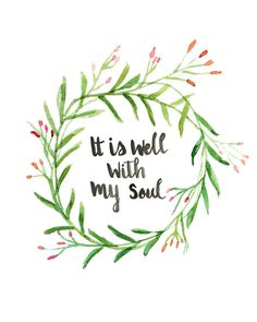 "Hand Lettered Hymn Art Print ""It is well with my sou""l by AprylMade"