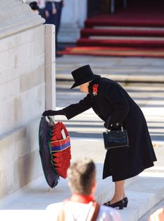 November 10, 2013 - The Queen led the nation in honouring members of the Armed Forces killed in conflict as Remembrance Sunday services took place around the UK to remember our war dead.  The monarch laid the first wreath at the Cenotaph on Whitehall to commemorate all those who have made the ultimate sacrifice in the decades since the First World War, bowing her head after paying her respects.