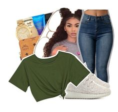 """""""I told him I never front😛"""" by ayeeitsdessa ❤ liked on Polyvore featuring adidas Originals"""