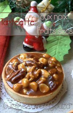 Tartelette aux noix, noisettes, noix de pecan et caramel beurre salé