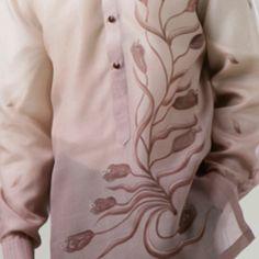 Floral barong Barong, Filipiniana, Art Clothing, Pinoy, Altered Art, Groom, Ruffle Blouse, Floral, Projects
