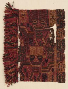 Mantle border, Paracas culture, Peru, 100 B.C. - A.D.  Museum of Fine Arts, Boston, Online Collection