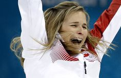 Canada\'s skip Jennifer Jones celebrates after winning the women\'s curling gold medal game against Sweden at the 2014 Winter Olympics, Thur. Olympic Curling, Women's Curling, Olympic Gold Medals, Jennifer Jones, Canadian Girls, Latest Sports News, Sports Art, Winter Olympics, Curls